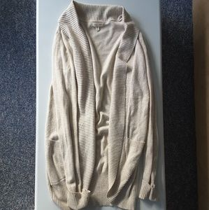 Oatmeal cacoon style cardigan with pockets